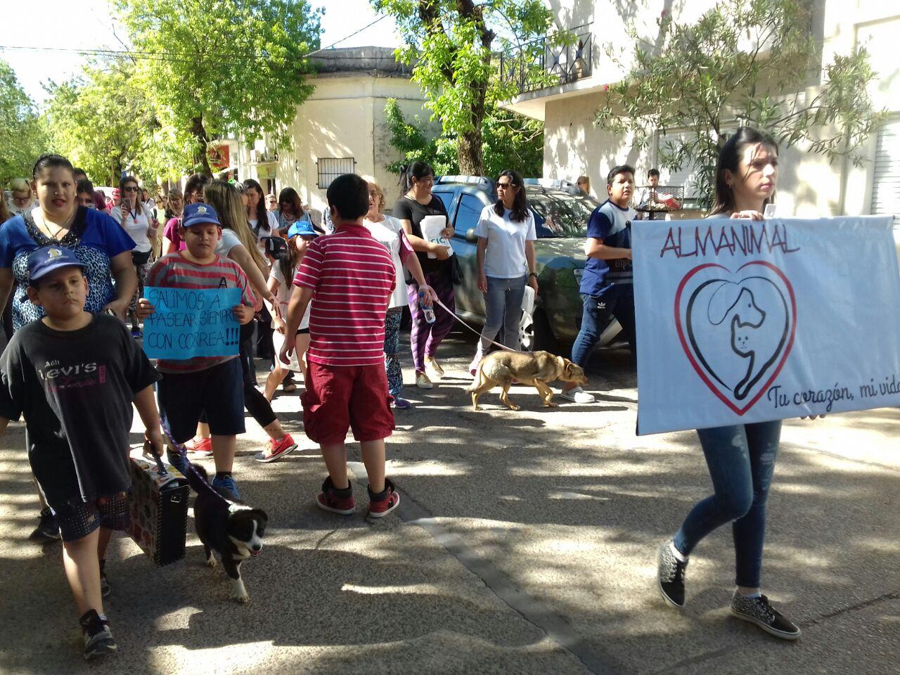 Caminata de plaza Columna a la Defensa Sur en fotos